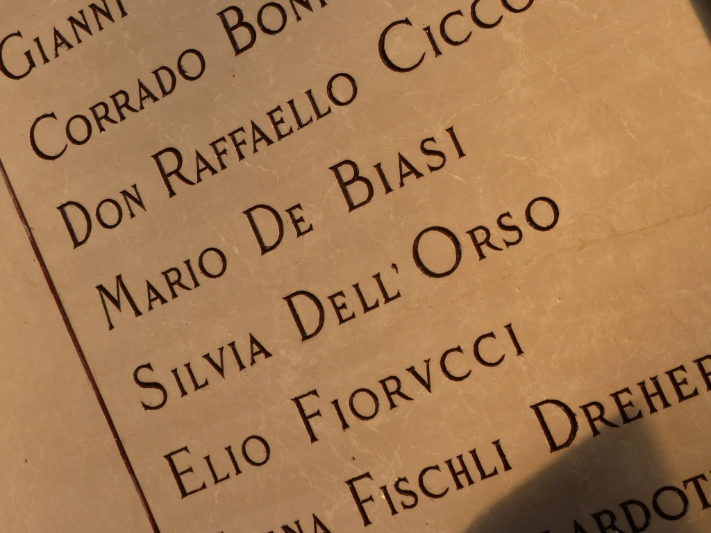 L'iscrizione di Silvia Dell'Orso nel Famedio