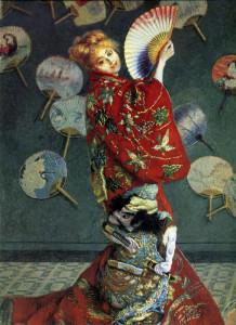 Claude Monet, La Japonaise (Camille Monet con un costume giapponese), 1876.