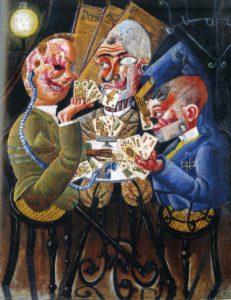 """""""Invalidi di guerra giocano a carte"""" di Otto Dix, 1920"""
