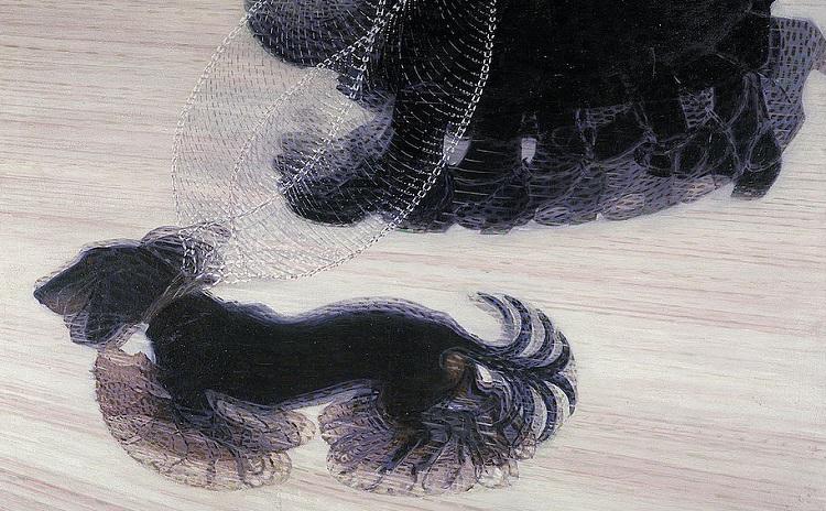 Dinamismo di un cane al guinzaglio, Giacomo Balla.